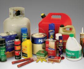 Flammable materials small